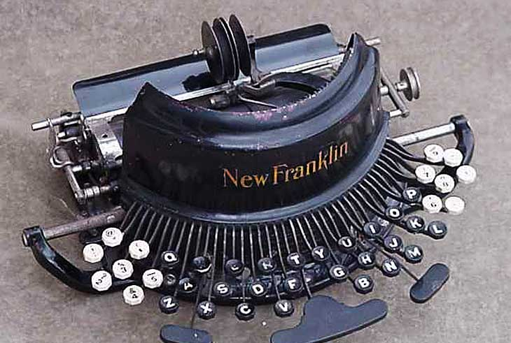 New Franklin Typewriter